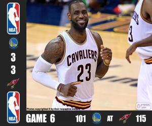 Układanka 2016 NBA Finals, 6 mecz
