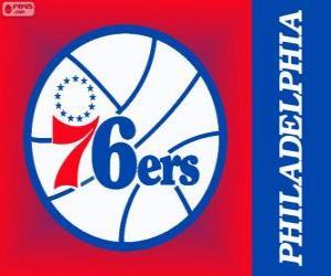 Układanka 76ers Philadelphia logo, Sixers, zespół NBA. Dywizja Atlantycka, Konferencja wschodnia