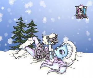 Układanka Abbey Bominable gry z jej pet, mammoth dziecko Shiver