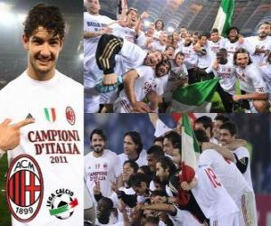 Układanka AC Milan, włoski mistrz Football League - Lega Calcio 2010-11