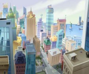 Układanka Aerial view of Mouse City