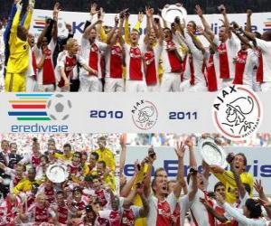 Układanka AFC Ajax Amsterdam, Liga Mistrzów Holandia - Eredivisie - 2010-11
