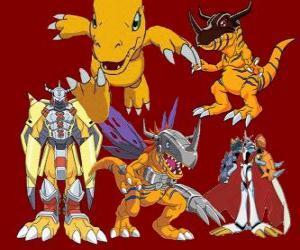 Układanka Agumon jest jednym z głównych Digimon. Agumon jest bardzo odważny i zabawy digimon