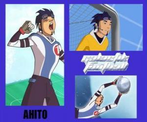 Układanka Ahito jest bramkarz reprezentacji Galactic Snow Kids z numerem 1