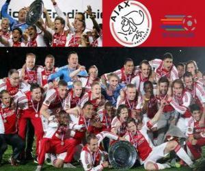 Układanka Ajax Amsterdam, mistrz Eredivisie 2011-2012, holenderski Football League