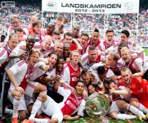 Układanka Ajax Amsterdam, mistrz Eredivisie 2012-2013, holenderski piłka nożna liga