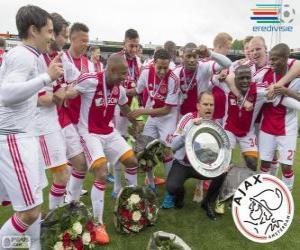 Układanka Ajax Amsterdam, mistrz ligi holenderskiej Eredivisie nożnej 2013-2014