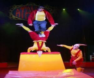 Układanka Akrobaci Klaun