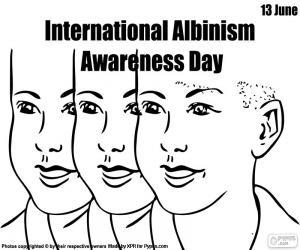 Układanka Albinizm Międzynarodowy Dzień