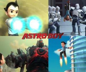 Układanka Albo Astro Boy AstroBoy, walka wrogów