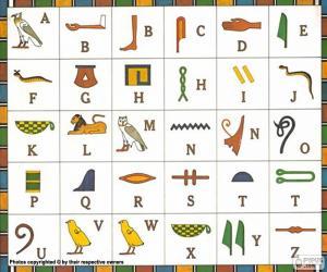 Układanka Alfabet egipski