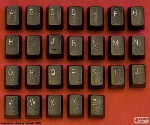 Układanka Alfabet klucze