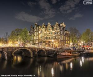 Układanka Amsterdam nocą, Holandia