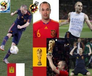 Układanka Andrés Iniesta (Sweet Iniesta) Hiszpański pomocnik National Team