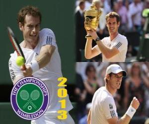 Układanka Andy Murray mistrz Wimbledonu 2013