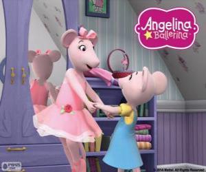 Układanka Angelina Ballerina i jego ukochanej siostry Polly