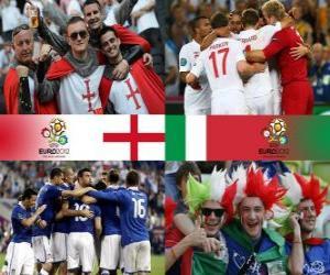Układanka Anglia - Włochy, ćwierćfinałów, Euro 2012