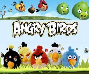Układanka Angry Birds Rovio. Video Game
