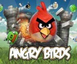 Układanka Angry Ptaki Rovio to gra wideo. Angry ptaki atakują świnie, którzy kradną jaj
