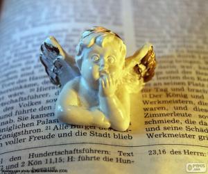 Układanka Anioł i Biblia