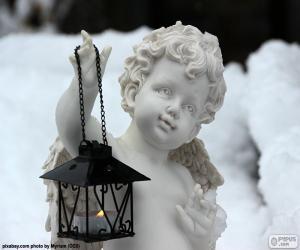 Układanka Anioł z latarnią