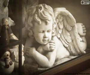 Układanka Anioł z rękami skrzyżowanymi