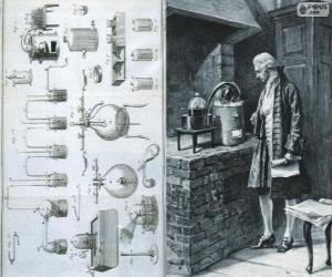Układanka Antoine Lavoisier (1743-1794), francuski chemik, uważany za twórcę nowoczesnej chemii