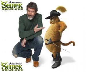 Układanka Antonio Banderas stanowi głos Kot w butach ostatni w filmie Shrek Forever