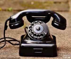 Układanka Antyczne telefon