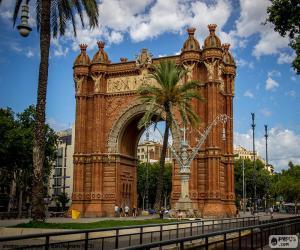 Układanka Arc de Triomf, Barcelonie