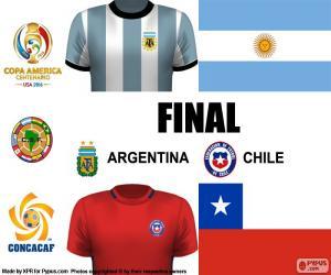 Układanka ARG-CHI finał Copa America 2016