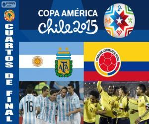Układanka ARG - COL, Copa America 2015