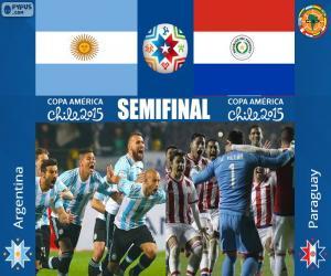 Układanka ARG - PAR, Copa America 2015