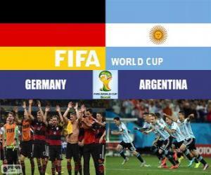 Układanka Argentyna vs Niemcy. Finał FIFA Mistrzostwa Świata w Piłce Nożnej Brazylia 2014