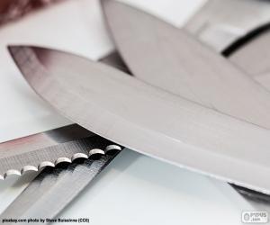 Układanka Arkuszy noży kuchennych