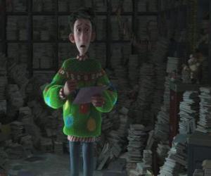 Układanka Arthur Christmas otoczony przez tysiące listów