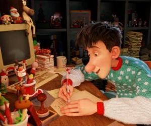 Układanka Artur Świąt Bożego Narodzenia, odpowiedzialne za odpowiedzi na listy świecie dzieci