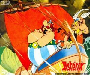 Układanka Asterix i Obelix, dwóch przyjaciół, są bohaterami przygodach Asterixa Galii