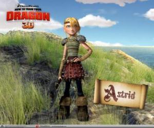 Układanka Astrid Hofferson, młodych kobiet viking dziwnego, energiczny i konkurencyjne