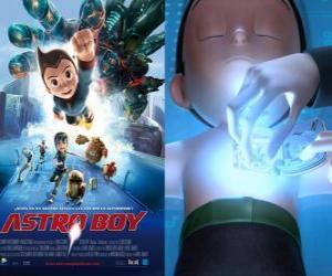 Układanka AstroBoy lub Astro Boy, super-robot stworzony przez Dr Tenma na obraz jego zmarłego syna Toby i jego wspomnienia