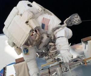 Układanka Astronauta w przestrzeni