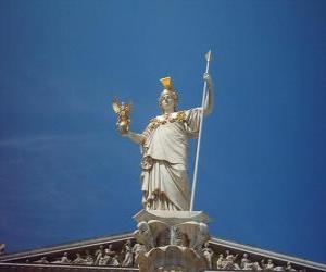 Układanka Atena w mitologii greckiej bogini wojny strategiczne, mądrość i bohaterskie starania