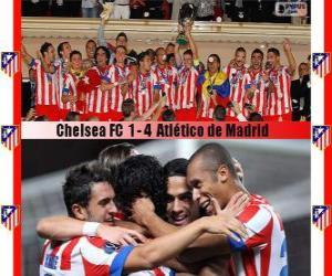 Układanka Atlético de Madrid mistrz Superpuchar Europy UEFA 2012