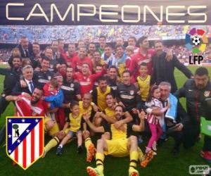 Układanka Atlético Madryt, mistrz ligi hiszpańskiej piłki nożnej 2013-2014