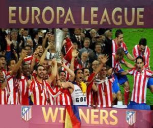 Układanka Atlético Madryt, mistrz z UEFA Europy League 2011-2012