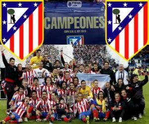 Układanka Atletico Madryt mistrz Copa del Rey 2012-2013