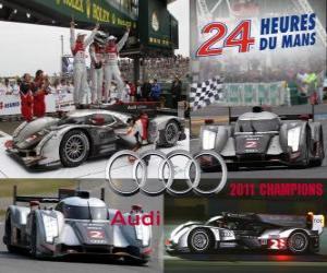 Układanka Audi R18 TDI 2011 Mistrzowie 24h Le Mans