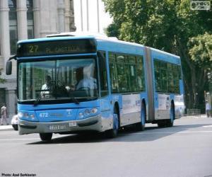 Układanka Autobus członowy dwóch modułów