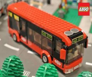 Układanka Autobus miejski Lego