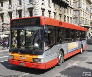Układanka Autobus miejski Rome